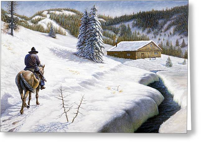 Homeward Bound Greeting Card by Gregory Perillo