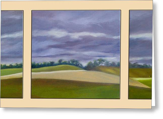 Homeward Bound - Triptych Greeting Card by Jo Appleby