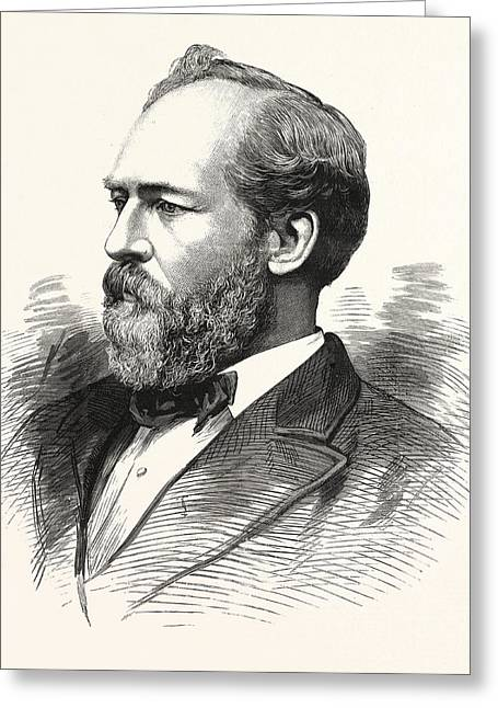 Hon. James A. Garfield, President-elect Of The United States Greeting Card by American School