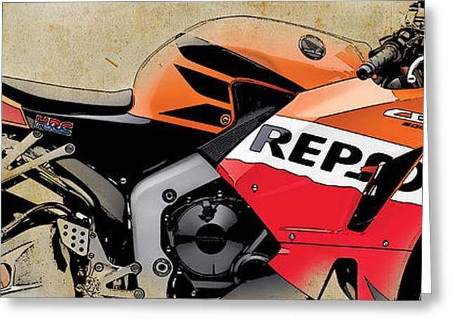 Honda Cbr 600rr 2013 Greeting Card