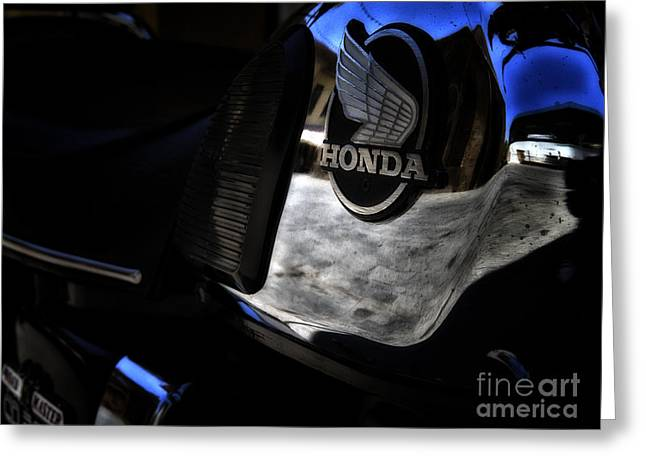 Honda Cd200 Road Master Greeting Card by Stelios Kleanthous