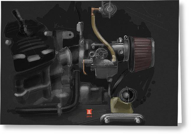 Honda Cx500 Carb Greeting Card