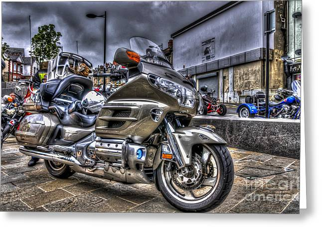Honda Goldwing 2 Greeting Card by Steve Purnell