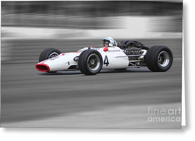 Honda Ra300 F1 Greeting Card by Roger Lighterness