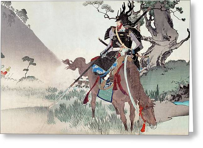 Honda Tadakatsu At Komaki Greeting Card by Paul D Stewart