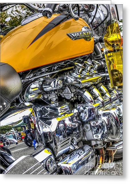 Honda Valkyrie 3 Greeting Card by Steve Purnell
