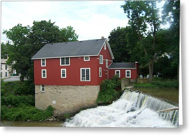 Honeoye Falls Greeting Card by Charlotte Gray