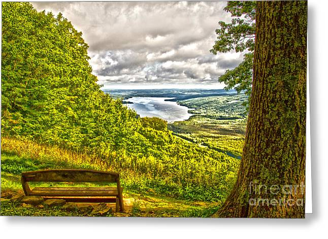 Honeoye Lake Overlook Greeting Card