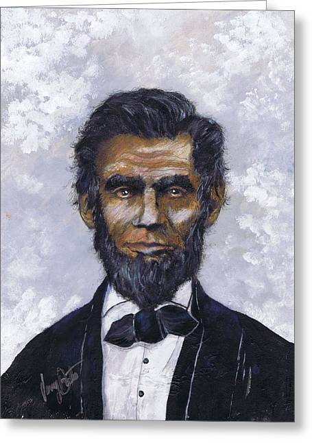 Honest Abe Greeting Card