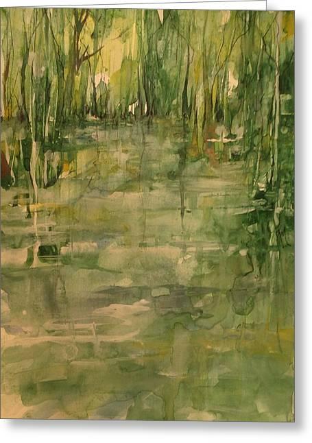 Honey Island Swamp In Green Greeting Card