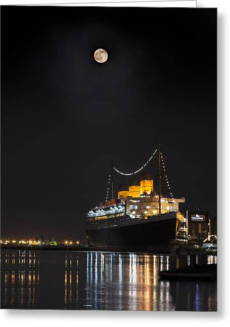 Honey Moon Reflects With The Queen By Denise Dube Greeting Card