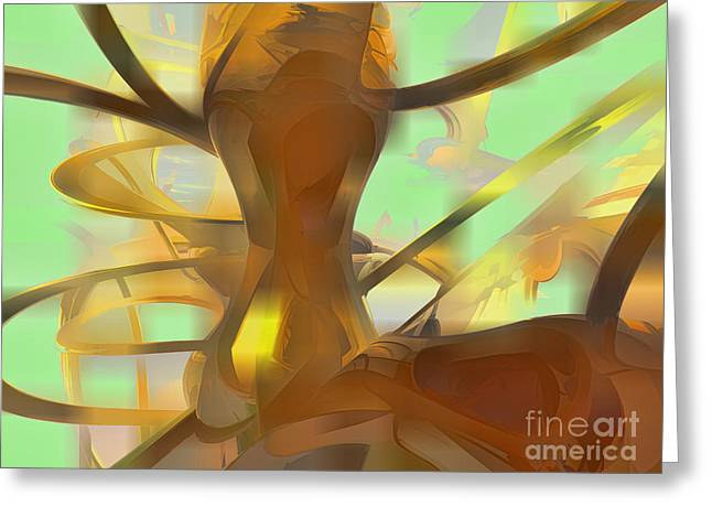 Honey Pastel Abstract Greeting Card