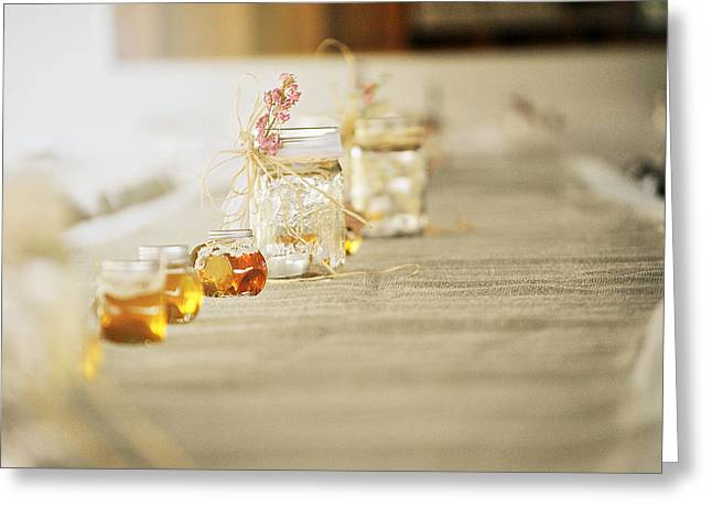 Honey Pots And Mason Jars Greeting Card by Chastity Hoff