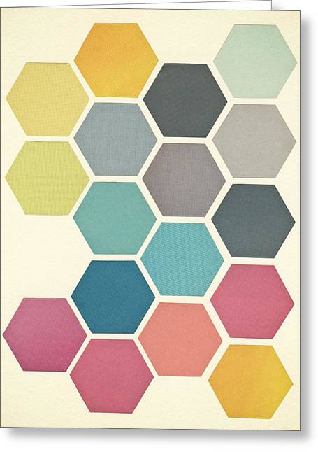 Honeycomb II Greeting Card by Cassia Beck