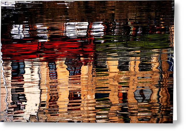 Honfleur Abstract Greeting Card by Jacqueline M Lewis