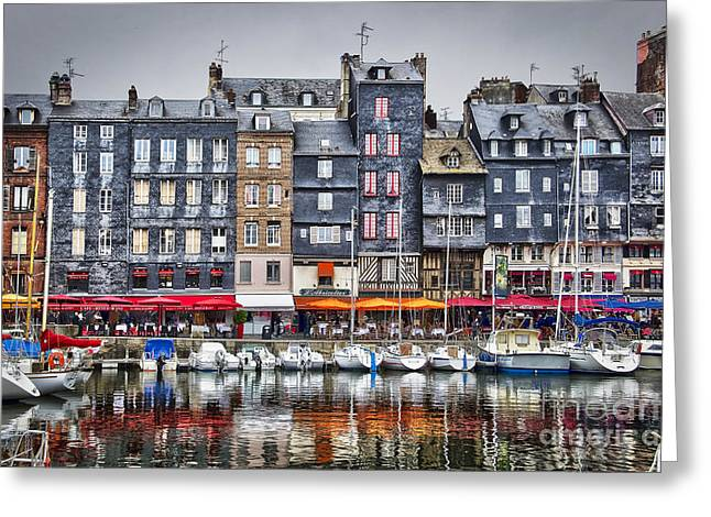 Honfleur Greeting Card by Delphimages Photo Creations