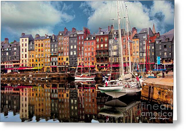 Honfleur Harbor Greeting Card