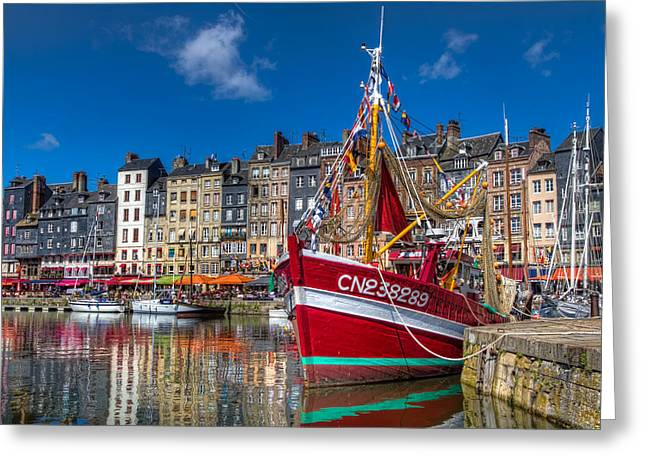 Honfleur Normandy Greeting Card by Tim Stanley