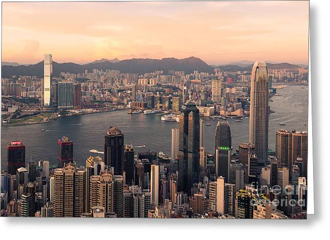 Hong Kong 08 Greeting Card by Tom Uhlenberg