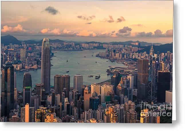 Hong Kong 19 Greeting Card by Tom Uhlenberg