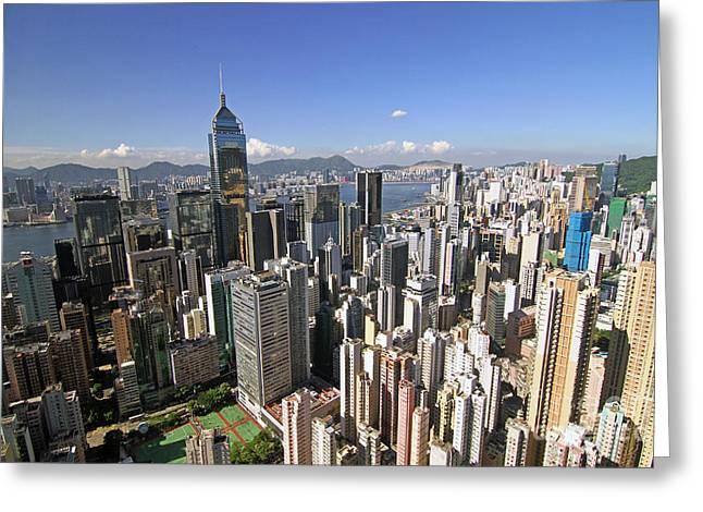 Hong Kong Causeway Bay Greeting Card by Lars Ruecker