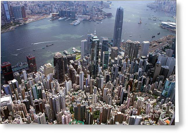 Hong Kong Central From Above Greeting Card