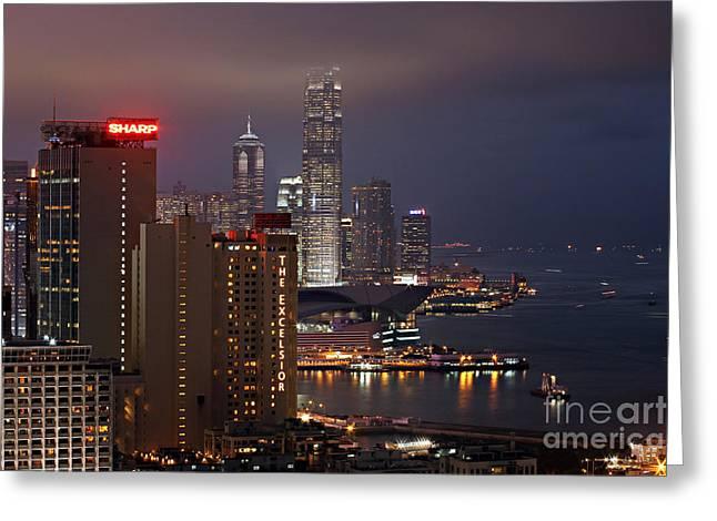 Hong Kong Greeting Card by Lars Ruecker