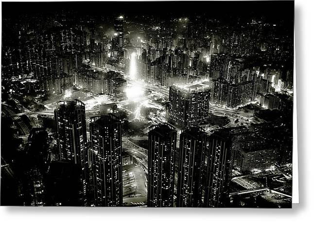 Hong Kong Night Greeting Card