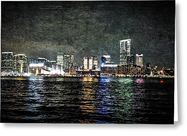 Hong Kong Skyline 2 Greeting Card