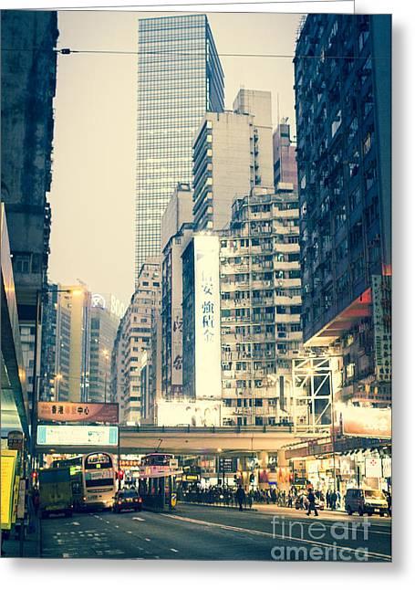 Hong Kong Street  Greeting Card