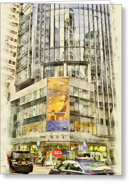 Hong Kong Streets 3 Greeting Card by Yury Malkov