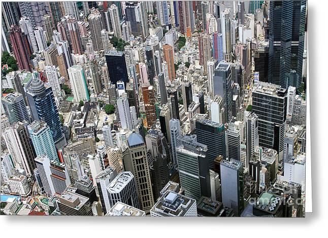Hong Kong's Density Greeting Card by Lars Ruecker