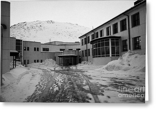 Honningsvag Primary School And Library Finnmark Norway Europe Greeting Card by Joe Fox