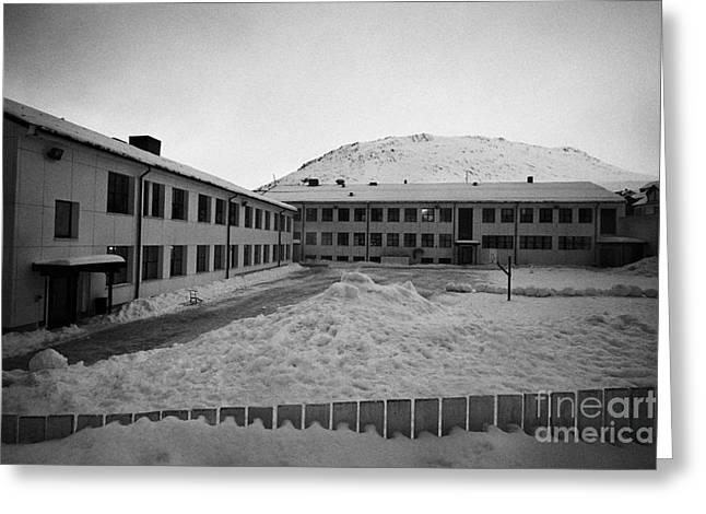 Honningsvag Primary School Finnmark Norway Europe Greeting Card