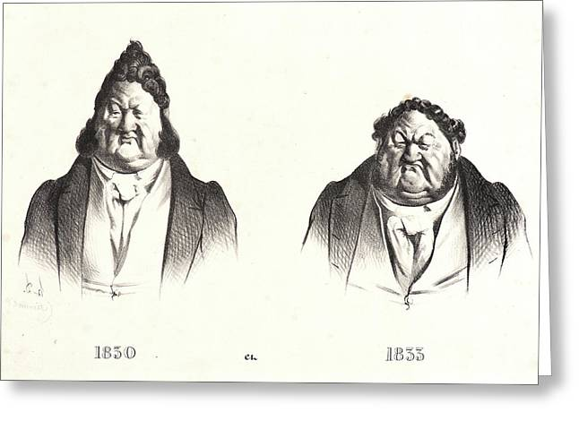 Honoré Daumier French, 1808 - 1879. 1830 Et 1833 Greeting Card by Litz Collection