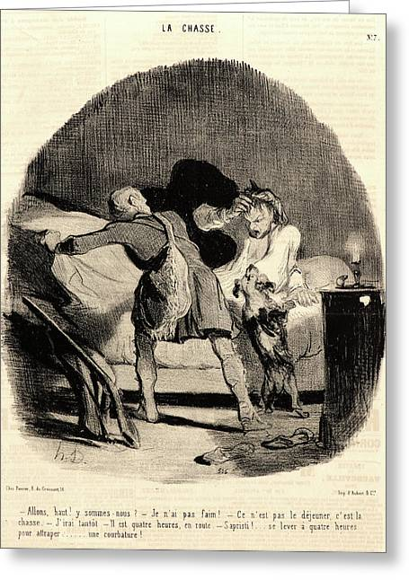 Honoré Daumier French, 1808 - 1879. Allons Greeting Card