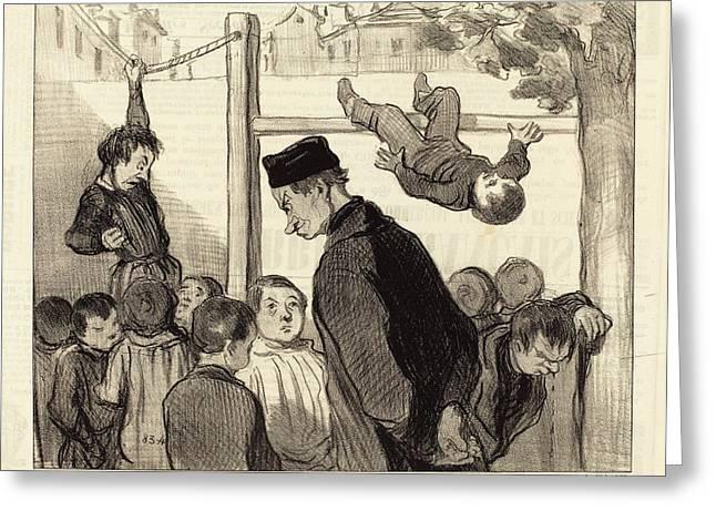 Honoré Daumier French, 1808 - 1879, Comme Quoi La Greeting Card