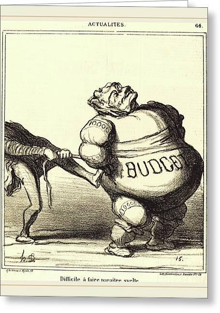 Honoré Daumier French, 1808-1879, Difficile à Faire Greeting Card by Litz Collection