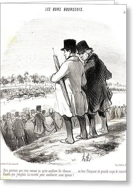 Honoré Daumier French, 1808 - 1879. Dire Pourtant Que Cest Greeting Card by Litz Collection