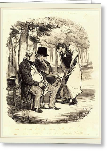 Honoré Daumier French, 1808-1879, Est-il Bon Greeting Card by Litz Collection