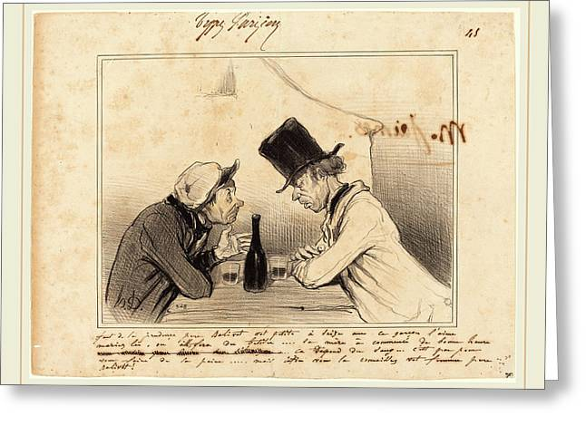 Honoré Daumier French, 1808-1879, Faut De La Prudence Greeting Card by Litz Collection
