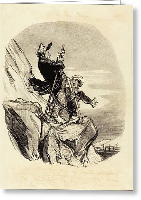 Honoré Daumier French, 1808 - 1879, Guide Greeting Card by Quint Lox