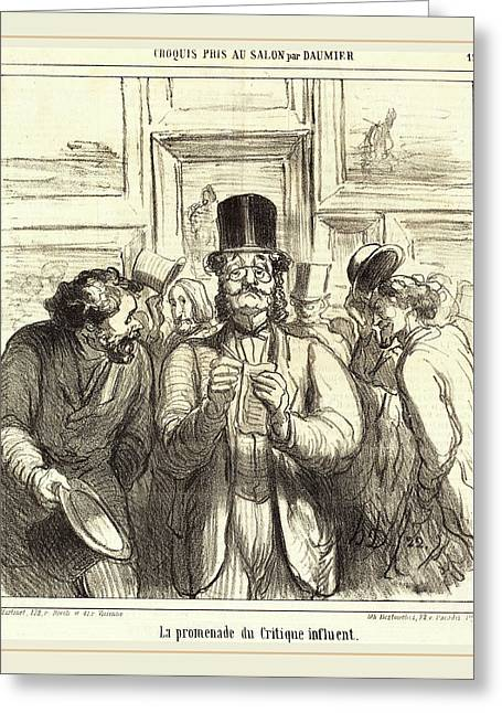 Honoré Daumier French, 1808-1879, La Promenade Du Critique Greeting Card by Litz Collection