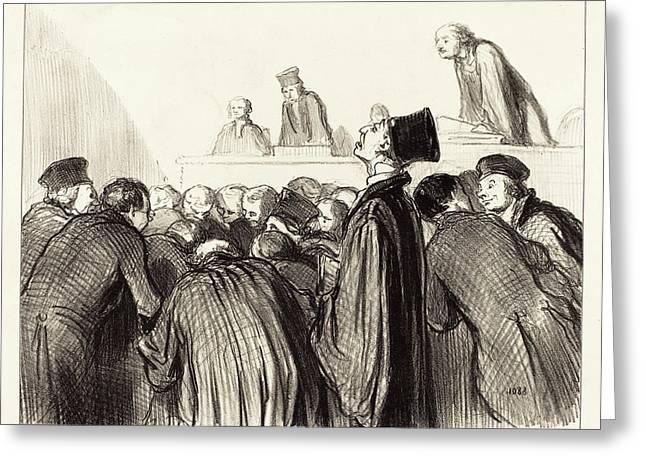 Honoré Daumier French, 1808 - 1879, Lavocat Que Se Trouve Greeting Card