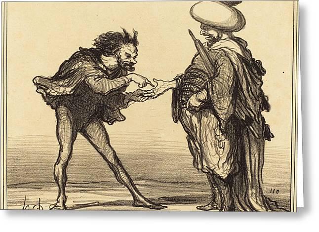 Honoré Daumier French, 1808 - 1879, Lempereur Du Maroc Greeting Card by Quint Lox