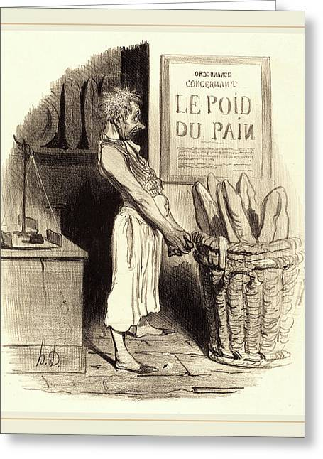 Honoré Daumier French, 1808-1879, Pour Lors Nous Sommes Greeting Card by Litz Collection