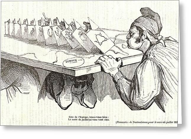 Honoré Daumier French, 1808 - 1879. Rois De Leurope Greeting Card