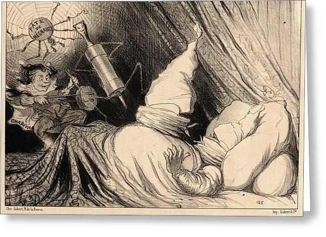 Honoré Daumier French, 1808 - 1879. Un Cauchemar De Mimi Greeting Card