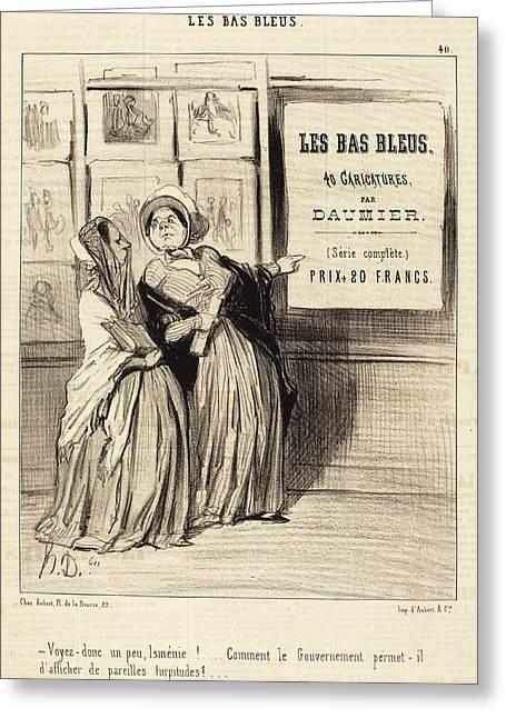 Honoré Daumier French, 1808 - 1879, Voyez Donc Un Peu Greeting Card