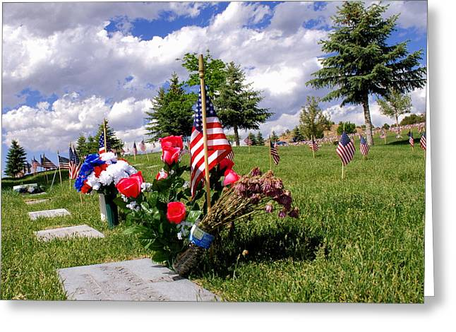 Honor Our Fallen Greeting Card by Luis-Enrique Valles